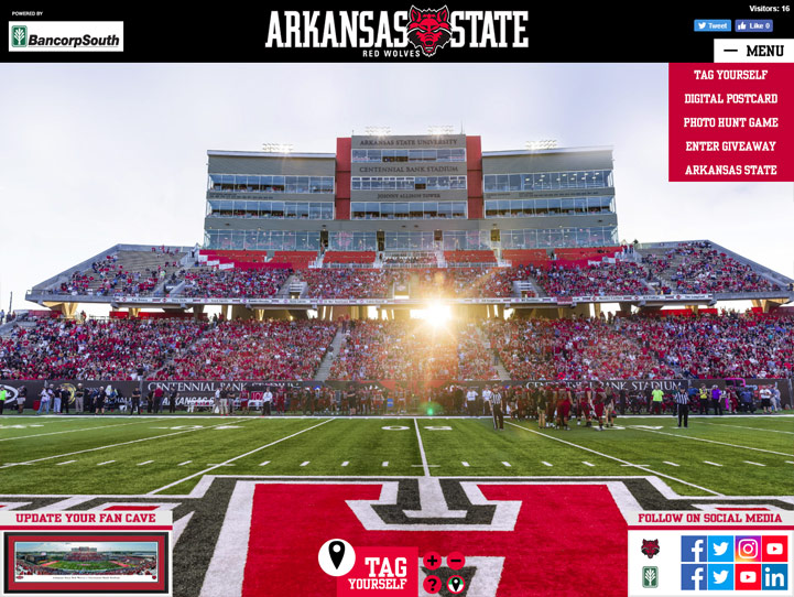 Arkansas State Red Wolves Football 360 Gigapixel Fan Photo
