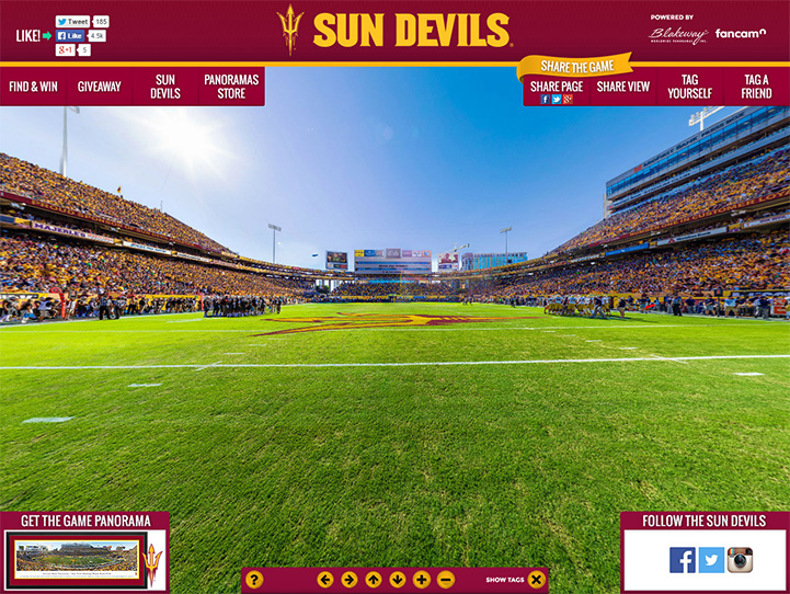 Arizona State Sun Devils 360° Gigapixel Fan Photo