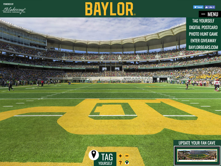 Baylor Bears 360° Gigapixel Fan Photo