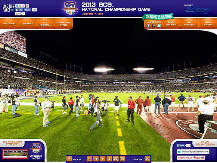 2013 BCS Championship 360° Gigapixel Fan Photo