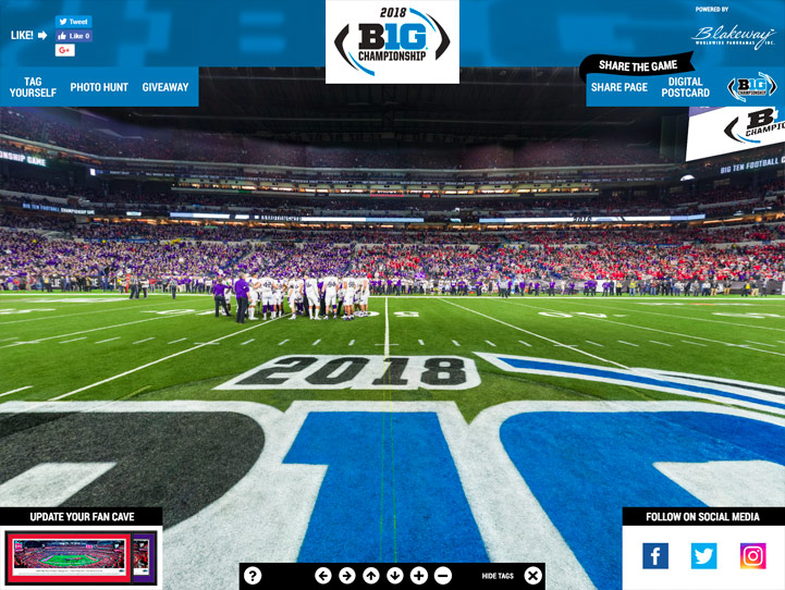 2018 Big Ten Football Championship 360 Gigapixel Fan Photo