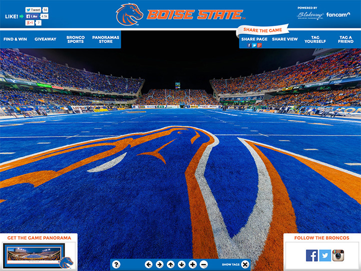 Boise State Broncos 360° Gigapixel Fan Photo