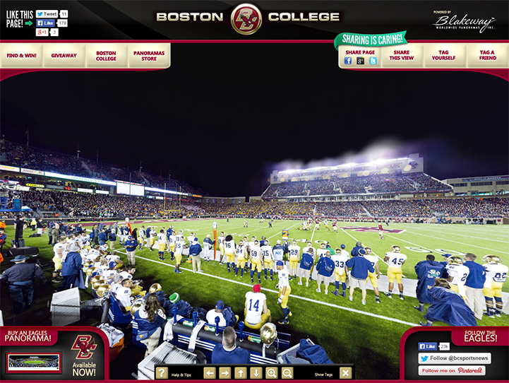 Boston College Eagles 360° Gigapixel Fan Photo