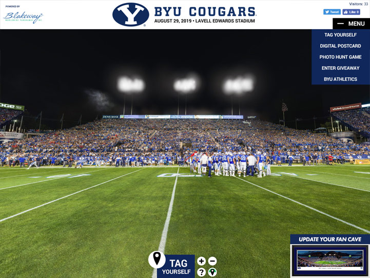 Brigham Young Cougars 360° Gigapixel Fan Photo