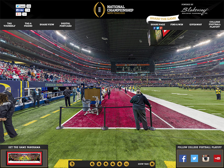2015 CFB Championship 360° Gigapixel Fan Photo