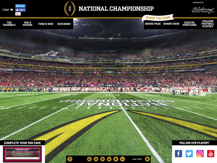 2018 CFB National Championship 360° Gigapixel Fan Photo