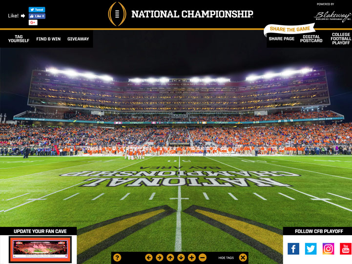 2019 College Football Playoff National Championship Game 360 Gigapixel Fan Photo