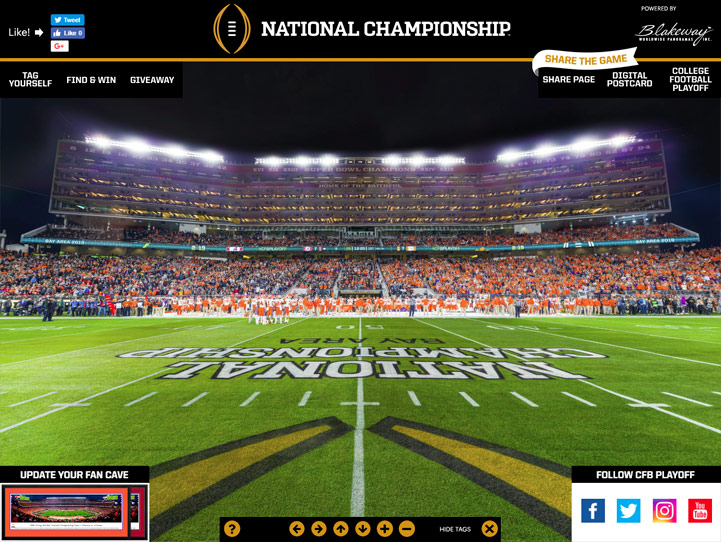2019 CFB Championship 360° Gigapixel Fan Photo