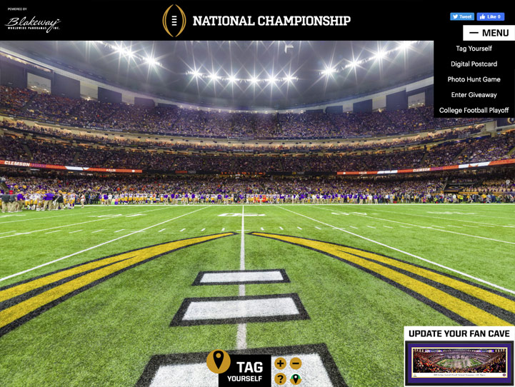 2020 CFB Championship 360° Gigapixel Fan Photo