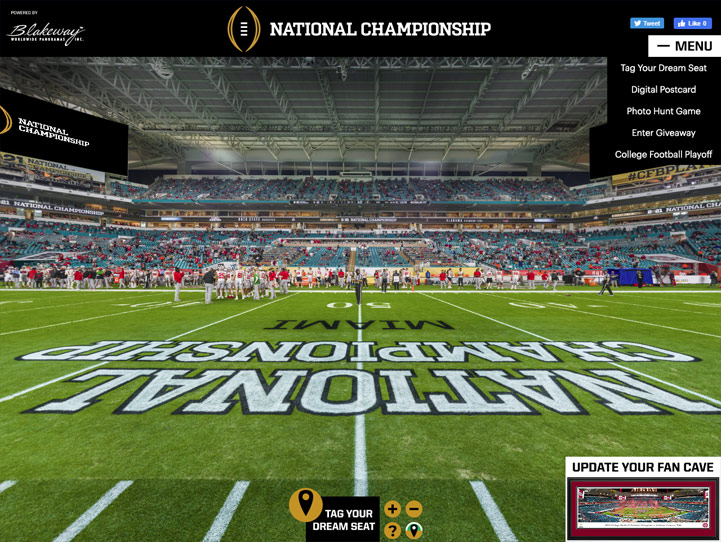 2021 CFB Playoff National Championship 360 Gigapixel Fan Photo