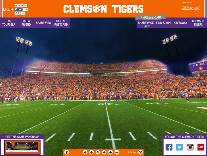 Clemson Tigers 360° Gigapixel Fan Photo