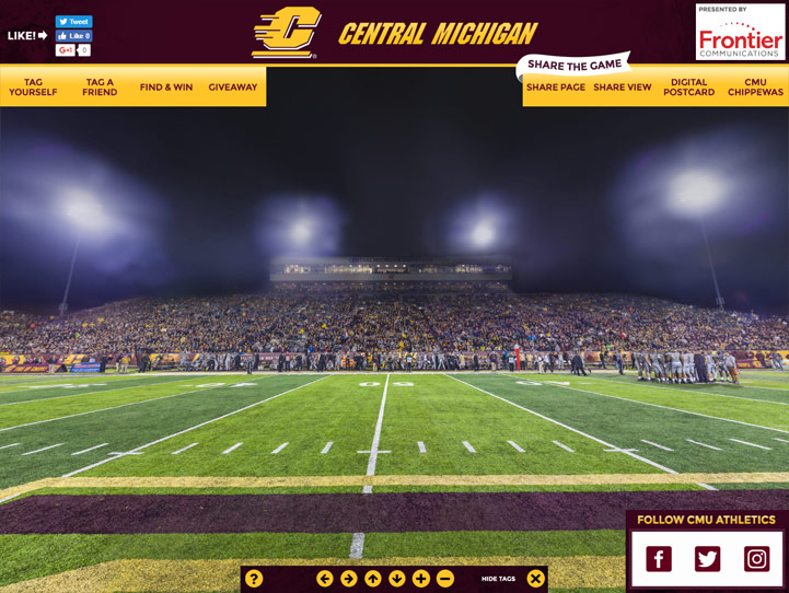 Central Michigan Chippewas 360° Gigapixel Fan Photo