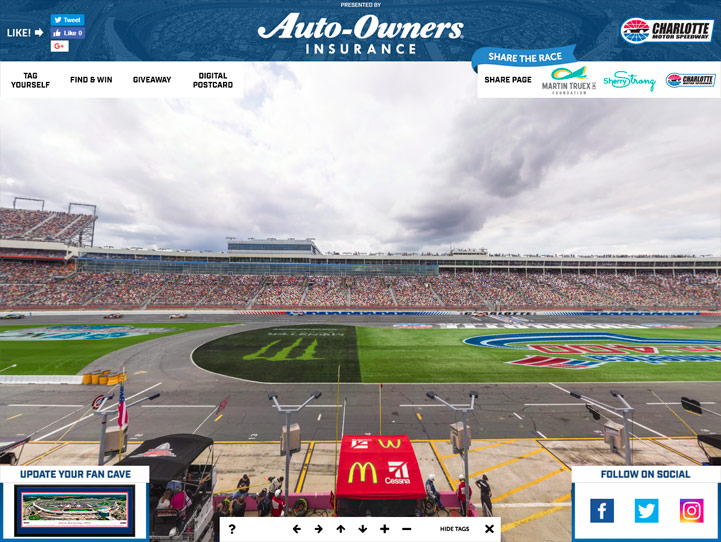 Charlotte Motor Speedway 360° Gigapixel Fan Photo