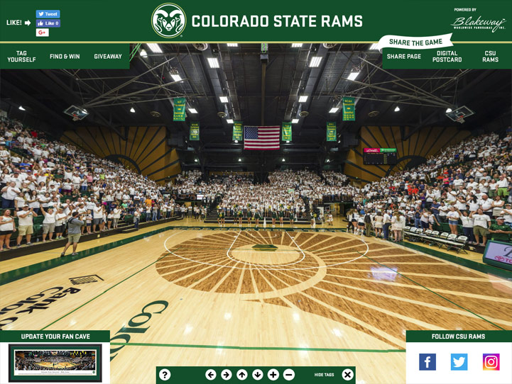 Colorado State Rams 360° Gigapixel Fan Photo