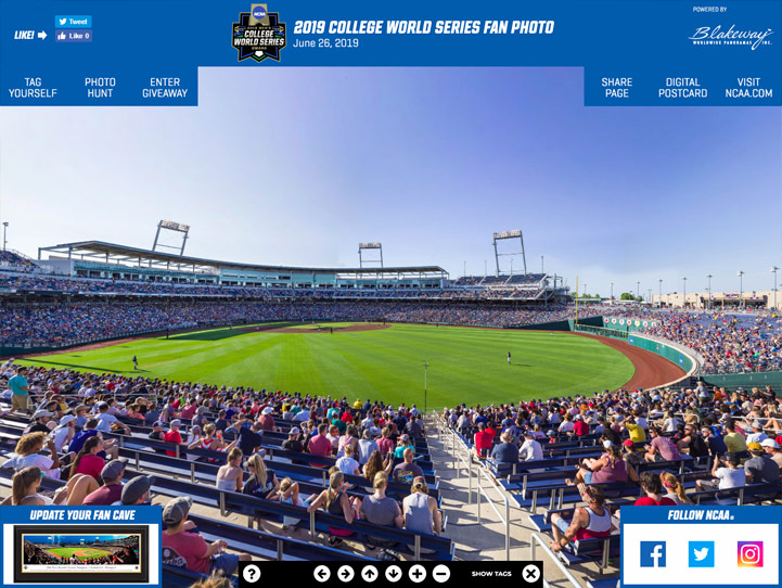 2019 College World Series 360 Gigapixel Fan Photo