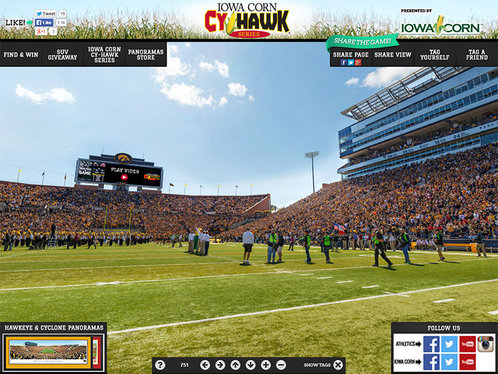 2014 Cy-Hawk Game 360° Gigapixel Fan Photo