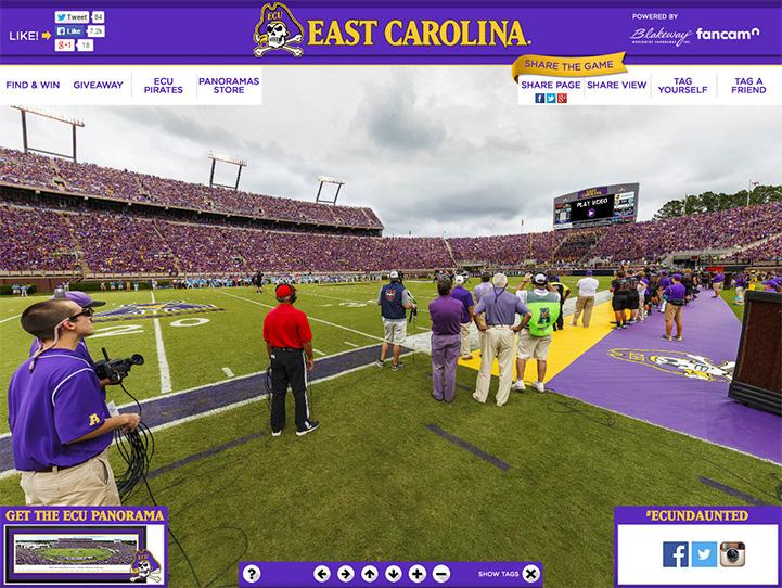 East Carolina Pirates 360° Gigapixel Fan Photo
