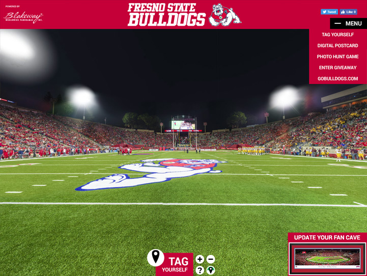 Fresno State Bulldogs 360° Gigapixel Fan Photo