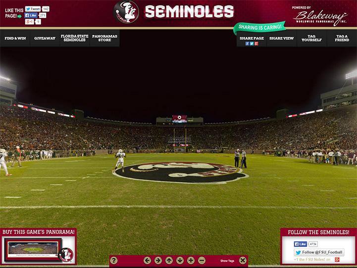 Florida State Seminoles 360° Gigapixel Fan Photo