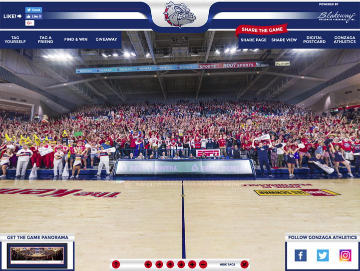 Gonzaga Bulldogs 360° Gigapixel Fan Photo