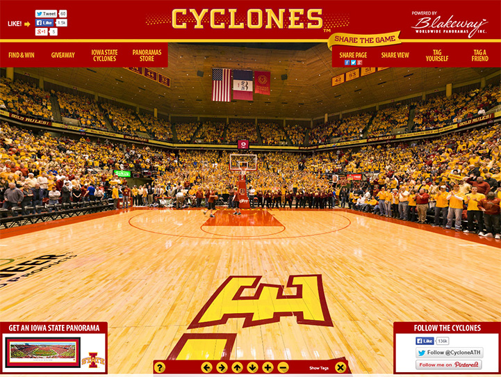 Iowa State Cyclones 360° Gigapixel Fan Photo