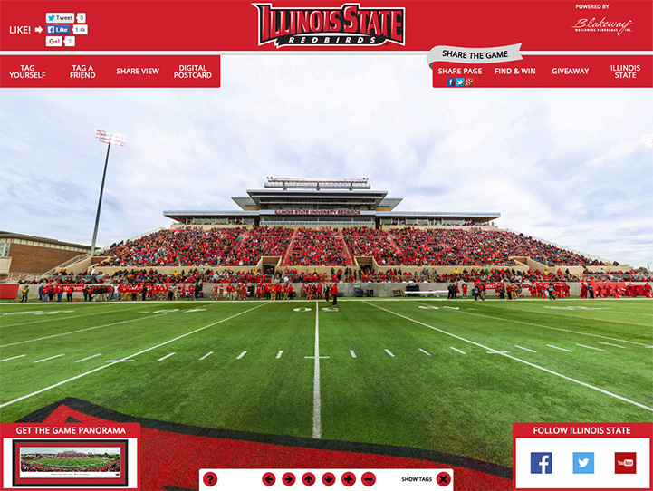 Illinois State Redbirds 360° Gigapixel Fan Photo