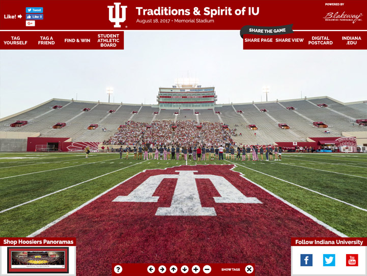 Indiana Hoosiers 360° Gigapixel Fan Photo