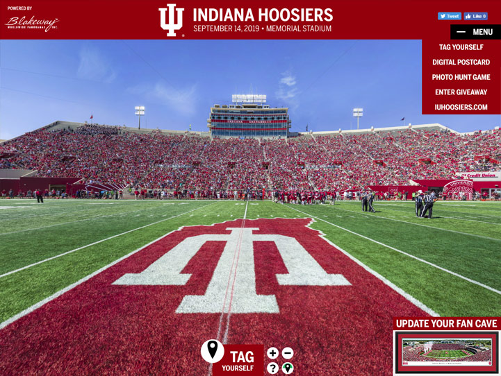 Indiana Hoosiers Football 360 Gigapixel Fan Photo