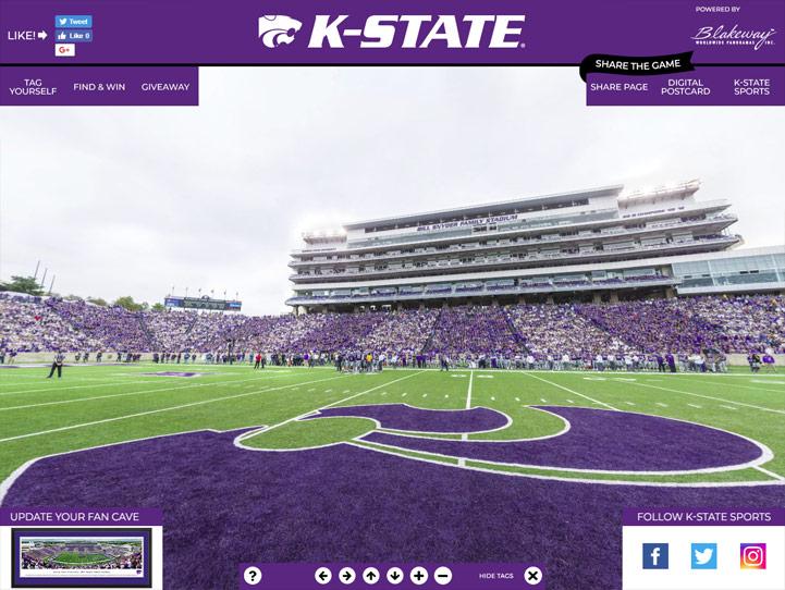 K-State Wildcats 360° Gigapixel Fan Photo