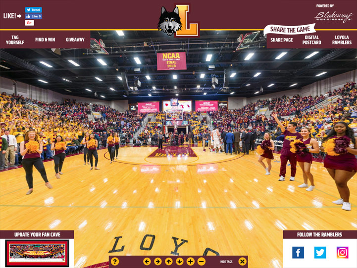 Loyola Ramblers 360° Gigapixel Fan Photo