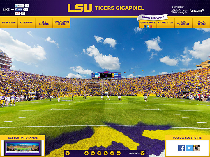 LSU Tigers 360° Gigapixel Fan Photo