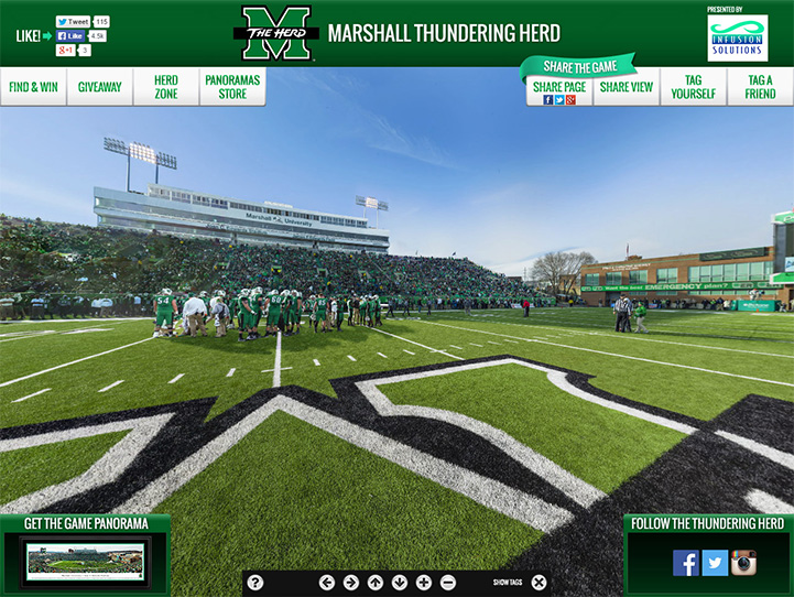 Marshall Thundering Herd 360° Gigapixel Fan Photo