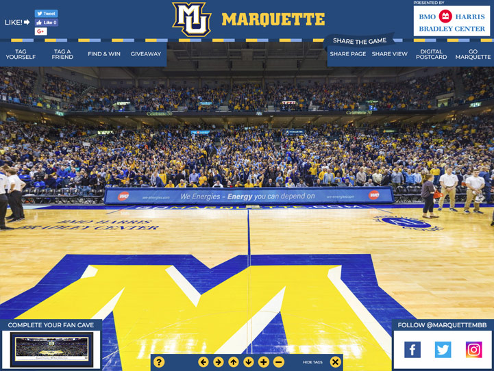 Marquette Golden Eagles 360° Gigapixel Fan Photo