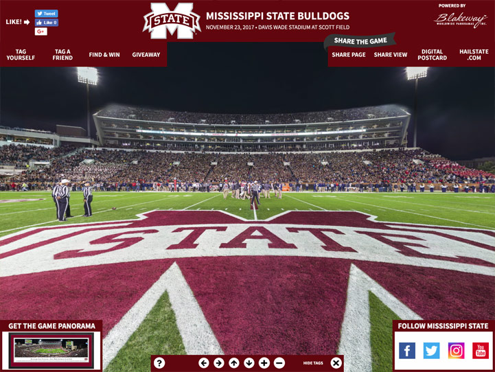 Mississippi State Bulldogs 360° Gigapixel Fan Photo