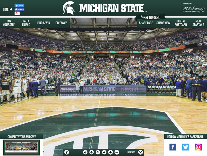 Michigan State Spartans 360° Gigapixel Fan Photo