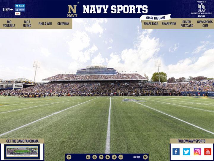 Navy Midshipmen 360° Gigapixel Fan Photo