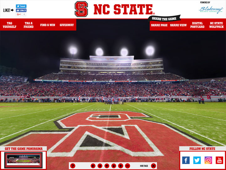 NC State Wolfpack 360° Gigapixel Fan Photo