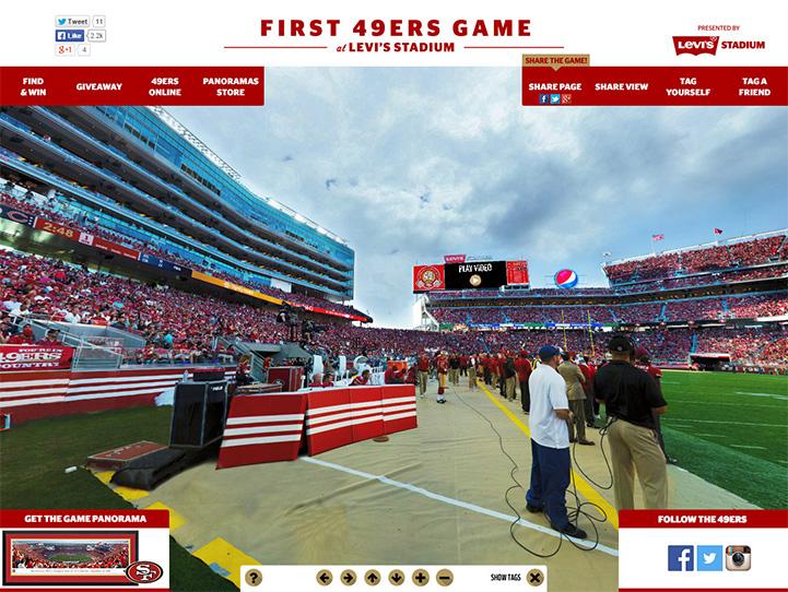 San Francisco 49ers 360° Gigapixel Fan Photo