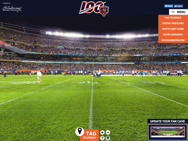 Chicago Bears 360° Gigapixel Fan Photo