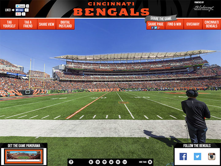 Cincinnati Bengals 360° Gigapixel Fan Photo
