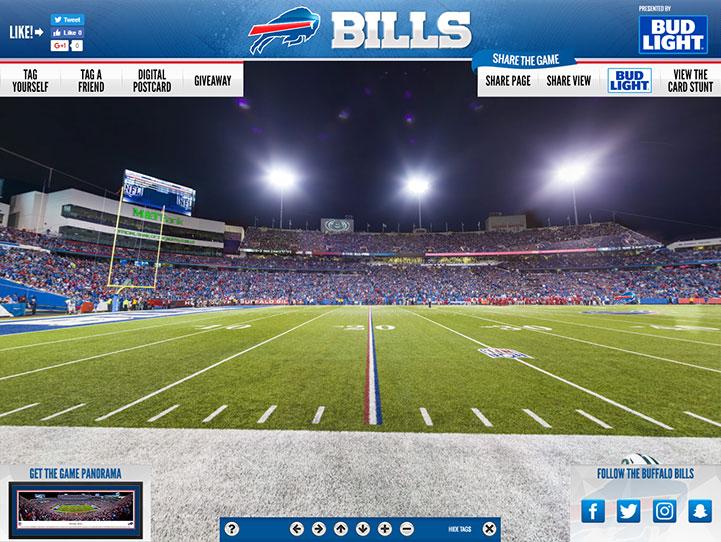 Buffalo Bills 360° Gigapixel Fan Photo