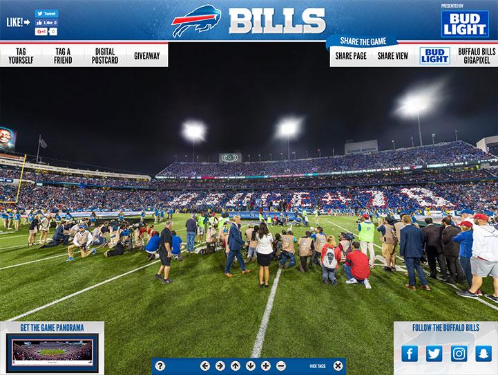 Buffalo Bills Card Stunt 360° Gigapixel Fan Photo