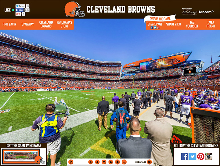 Cleveland Browns 360° Gigapixel Fan Photo