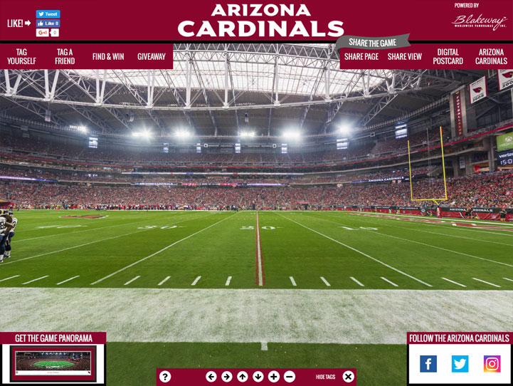 Arizona Cardinals 360° Gigapixel Fan Photo