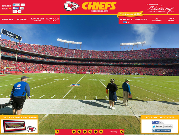 Kansas City Chiefs 360° Gigapixel Fan Photo