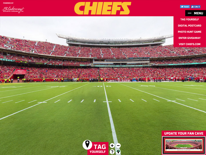 Kansas City Chiefs 360 Gigapixel Fan Photo
