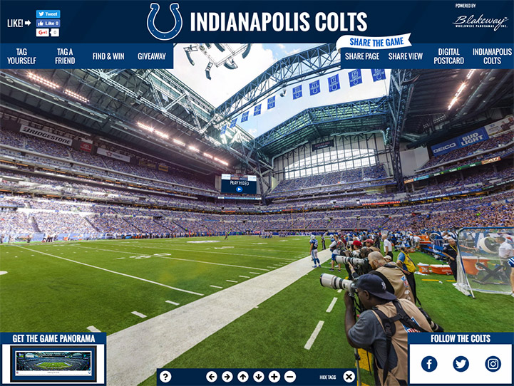 Indianapolis Colts 360° Gigapixel Fan Photo