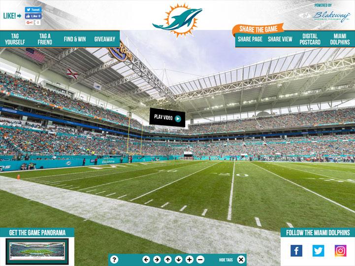 Miami Dolphins 360° Gigapixel Fan Photo