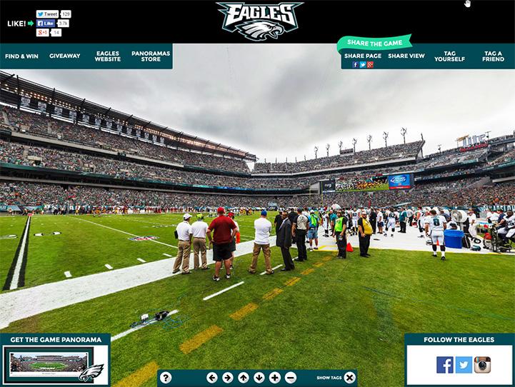 Philadelphia Eagles 360° Gigapixel Fan Photo