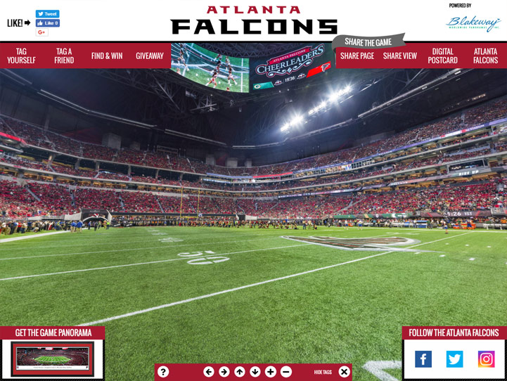 Atlanta Falcons 360° Gigapixel Fan Photo